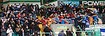 Kilmarnock fans do the Celtic huddle Poznan style