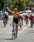 The finish of the Elite 3/4 division of the Tour De Nez Bike Race in downtown Reno on Saturday, June 11, 2016.