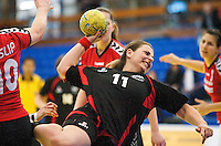31 MAR 2010 - LONDON, GBR - Great Danes Aleksandra Garaloska shoots during the exhibition match against Ruislip Eagles at the National Sports Centre at Crystal Palace .(PHOTO (C) NIGEL FARROW)