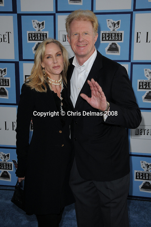 ED BEGLEY JR. + wife @ the 2008 Film Independent's Spirit awards held @ the Santa Monica beach..February 23, 2008