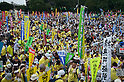 September 19, 2011, Harajuku, Tokyo, Japan - Anti-Nuclear protesters gather at the 'Sayonara-Nukes' Anti Nuclear rally held in Meiji Park. Police and local media estimates put numbers attending at between 20-50,000. (Photo by Bruce Meyer-Kenny/AFLO) [3692]..