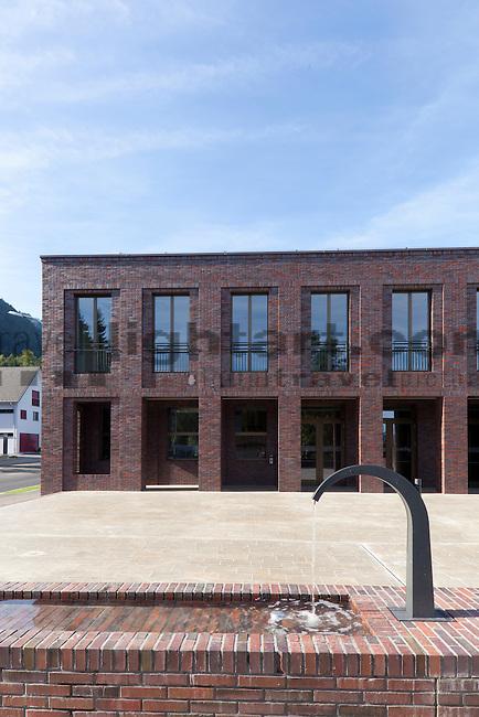 """Neubau des Mehrzweckgebäudes """"Zuschg"""" in Schaanwald, Liechtenstein. Foto: Paul Trummer / Mauren."""