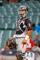 Catcher Jeremy Martinez #6 during the Under Armour All-American Game at Wrigley Field on August 13, 2011 in Chicago, Illinois.  (Mike Janes/Four Seam Images)