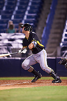 Bradenton Marauders catcher Taylor Gushue (17) at bat during a game against the Tampa Yankees on April 11, 2016 at George M. Steinbrenner Field in Tampa, Florida.  Tampa defeated Bradenton 5-2.  (Mike Janes/Four Seam Images)