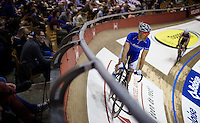 Kenny De Ketele (BEL/Topsport Vlaanderen-Baloise) on his home-track: the iconic Kuipke Velodrome<br /> <br /> 2015 Gent 6