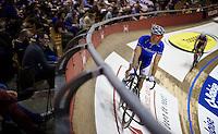 Kenny De Ketele (BEL/Topsport Vlaanderen-Baloise) on his home-track: the iconic Kuipke Velodrome<br /> <br /> 2015 Gent 6