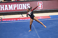 STANFORD, CA- Saturday, February 20, 2016: Stanford falls to Utah, 197.150-195.875, at Maples Pavilion.