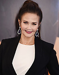 HOLLYWOOD, CA - MAY 25:  Actress Lynda Carter arrives at the premiere of Warner Bros. Pictures' 'Wonder Woman' at the Pantages Theatre on May 25, 2017 in Hollywood, California.
