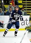 30 November 2009: Yale University Bulldogs' forward Charles Brockett, a Sophomore from Shaker Heights, OH, in action against the University of Vermont Catamounts at Gutterson Fieldhouse in Burlington, Vermont. The Bulldogs fell to the Catamounts 1-0 in a close rematch of last season's first round of the NCAA post-season playoff Tournament. Mandatory Credit: Ed Wolfstein Photo