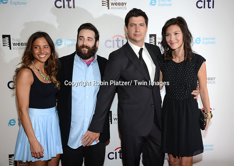 Burning Love team, Maria Angel, Mike Rosenstein, Ken Marino and Erica Oyama  attend the 17th Annual Webby Awards on May 21, 2013 at Cipriani Wall Street in New York City.
