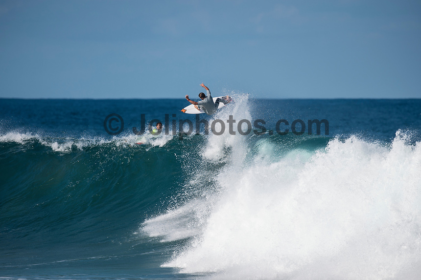 BELLS BEACH, Victoria/AUS (Wednesday, April 12, 2017) Julian Wilson (AUS) - The opening day of the Rip Curl Pro Bells Beach, the third stop on the World Surf League (WSL) Championship Tour (CT), saw incredible performances as the event ran through women&rsquo;s Rounds 1, 2 and 3 in three-to-five foot (1 - 2 metre) conditions at Bells Beach.<br /> <br /> Reigning WSL Champion Tyler Wright (AUS) put on a clinic today at Bells Beach with a phenomenal performance in both Round 1 and Round 3. Wright posted an outstanding 17.00 two-wave combined score in Round 1 and continued to showcase her flair with an 18.47 in Round 3. Wright&rsquo;s wins today earn her a place in the Quarterfinals and moves her one step closer to ringing the coveted Bell for the first time. Sage Erickson (USA) and local favorite Nikki Van Dijk (AUS) were not able to challenge Wright in Round 3 and will be sent to elimination Round 4 for one final opportunity to make the final series.<br /> A warm-up free surf session for the men took place at Winki Pop for most of the afternoon. <br />  <br /> Photo: joliphotos.com