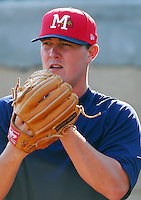 21 April 2007: Dan Smith of the Mississippi Braves, the Atlanta Braves' Class AA affiliate of the Southern League, in a game against the Birmingham Barons at Trustmark Park in Pearl, Miss. Photo by:  Tom Priddy/Four Seam Images
