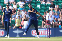 Mohammad Amir in bowling action for Essex during Kent Spitfires vs Essex Eagles, NatWest T20 Blast Cricket at The County Ground on 9th July 2017