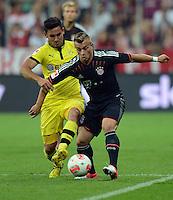 FUSSBALL   1. BUNDESLIGA   SAISON 2012/2013   SUPERCUP FC Bayern Muenchen - Borussia Dortmund            12.08.2012 Ilkay Guendogan (li, Borussia Dortmund)  gegen Xherdan Shaqiri (FC Bayern Muenchen)
