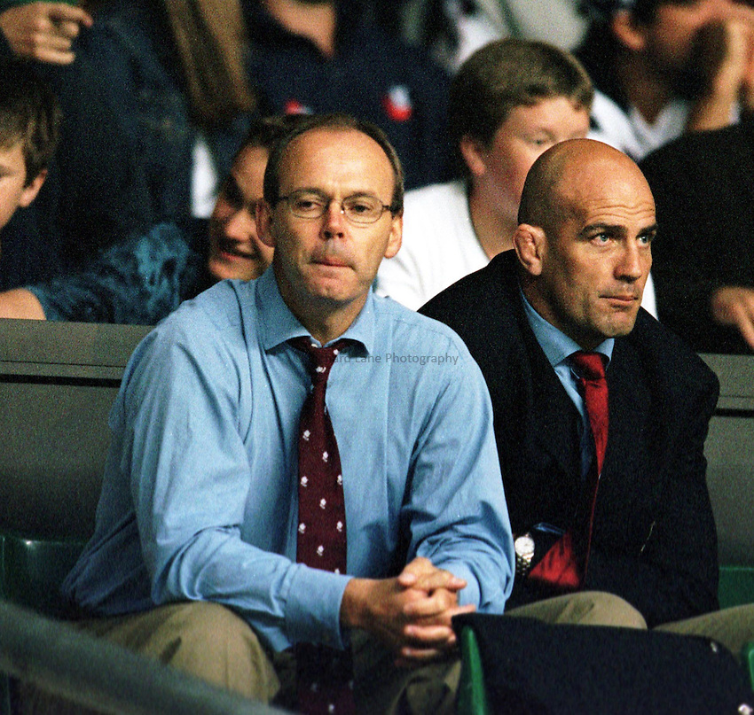 Photo. Richard Lane.England v USA. 21/8/99..Clive Woodward and John Mitchell.