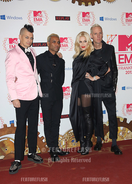 Gwen Stefani and No Doubt arriving for the The MTV EMA's 2012 held at Festhalle, Frankfurt, Germany. 11/11/2012 Picture by: Henry Harris / Featureflash