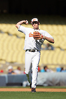 February 28 2010: Tom Belza of Oklahoma State during game against Vanderbilt at Dodger Stadium in Los Angeles,CA.  Photo by Larry Goren/Four Seam Images
