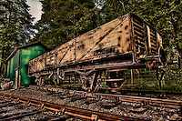 A freight railway truck is part of the expanding collection of railway wagons on the reconstructed section of the Deeside railwayline at Crathes, Royal Deeside. www.dsider.co.uk dsider whats on Royal Deeside, photography courses & commercial photography by Bill Bagshaw at Banchory.