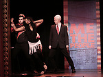 Richard Spitaletta, Aiesha Dukes and Mitchel Kawash perform onstage during the 'ME THE PEOPLE: The Trump America Musical' Press Preview Presentation at The Triad Theater on June 21, 2017 in New York City.