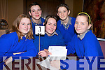 GETTING IT RIGHT: Taking part in the Religion Quiz held in the Fel's Point Hotel on Tuesday were students from Miltown Secondary School. From front l-r were: Claire Hickey, Nicola Coffey and Aine Murphy. Back l-r were: Niall McAllister and Micheal O'Shea.   Copyright Kerry's Eye 2008
