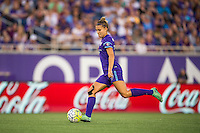 Orlando, Florida - Sunday, May 14, 2016: Orlando Pride defender Stephanie Catley (7) during a National Women's Soccer League match between Orlando Pride and New York Flash at Camping World Stadium.
