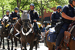 POLICE on HORSEBACK SEND a MESSAGE to ANY WHO WOULD DETER the PEACE DURING the 2008 DEMOCRATIC CONVENTION in DENVER COLORADO (4)