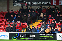 Fleetwood Town fans look on<br /> <br /> Photographer Richard Martin-Roberts/CameraSport<br /> <br /> The EFL Sky Bet League One - Fleetwood Town v Plymouth Argyle - Saturday 16th March 2019 - Highbury Stadium - Fleetwood<br /> <br /> World Copyright © 2019 CameraSport. All rights reserved. 43 Linden Ave. Countesthorpe. Leicester. England. LE8 5PG - Tel: +44 (0) 116 277 4147 - admin@camerasport.com - www.camerasport.com