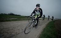 Paris-Roubaix 2012 recon..Tomas Vaitkus