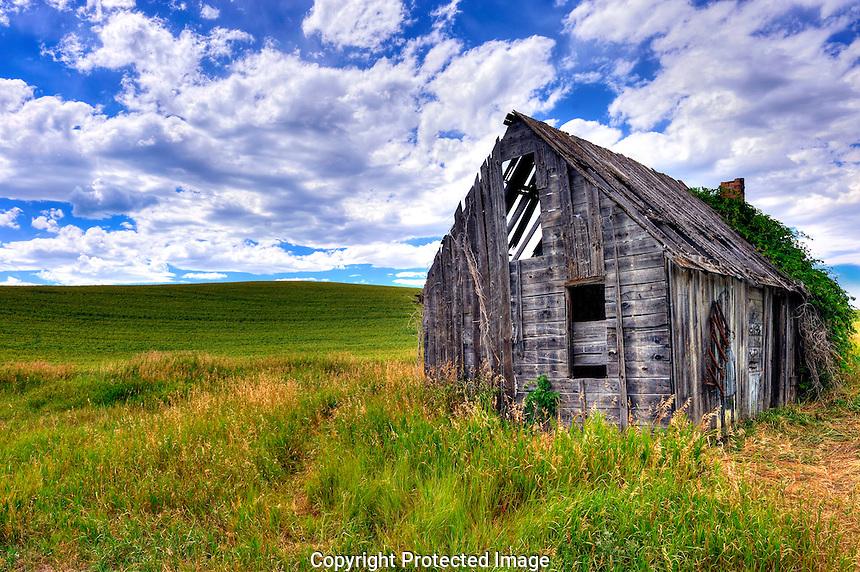 Abandoned barn near Victor Idaho