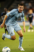 Matt Besler Sporting KC defender in action...Sporting KC defeated San Jose Earthquakes 1-0 at LIVESTRONG Sporting Park, Kansas City ,Kansas,..
