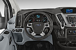 Car pictures of steering wheel view of a 2018 Ford Transit 250 Van Med Roof Sliding Pass. 130 WB 2 Door Van Steering Wheel