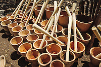 Mortar made from the tree Kaya  senegalensis for sell on the market