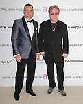 Elton John and David Furnish at the 19th Annual Elton John AIDS Foundation Academy Awards Viewing Party held at The Pacific Design Center Outdoor Plaza in West Hollywood, California on August 27,2011                                                                               © 2011 DVS / Hollywood Press Agency