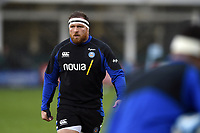 Henry Thomas of Bath Rugby looks on during the pre-match warm-up. Gallagher Premiership match, between Bath Rugby and Sale Sharks on December 2, 2018 at the Recreation Ground in Bath, England. Photo by: Patrick Khachfe / Onside Images