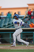 James Harris (4) of the Stockton Ports bats against the Lancaster JetHawks at The Hanger on May 26, 2016 in Lancaster, California. Stockton defeated Lancaster, 16-7. (Larry Goren/Four Seam Images)