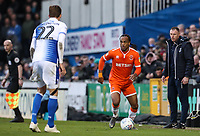 Blackpool's Nathan Delfouneso competing with Bristol Rovers' Joe Partington <br /> <br /> Photographer Andrew Kearns/CameraSport<br /> <br /> The EFL Sky Bet League Two - Bristol Rovers v Blackpool - Saturday 2nd March 2019 - Memorial Stadium - Bristol<br /> <br /> World Copyright © 2019 CameraSport. All rights reserved. 43 Linden Ave. Countesthorpe. Leicester. England. LE8 5PG - Tel: +44 (0) 116 277 4147 - admin@camerasport.com - www.camerasport.com