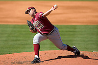Starting pitcher Brian Busch #24 of the Florida State Seminoles in action versus the Miami Hurricanes at Durham Bulls Athletic Park May 21, 2009 in Durham, North Carolina.  (Photo by Brian Westerholt / Four Seam Images)