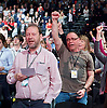 Labour Party Conference <br /> Day 4<br /> 30th September 2015 <br /> Brighton Centre, Brighton, East Sussex <br /> <br /> delegates singing The Red Flag at closing ceremony <br /> <br />  <br /> Photograph by Elliott Franks <br /> Image licensed to Elliott Franks Photography Services