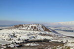 Golan Heights, a view of Mount Bental from Mount Avital, mount Hermon is in the background