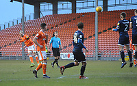 Blackpool's Antony Evans hits a free kick on target<br /> <br /> Photographer Kevin Barnes/CameraSport<br /> <br /> The EFL Sky Bet League One - Blackpool v Walsall - Saturday 9th February 2019 - Bloomfield Road - Blackpool<br /> <br /> World Copyright © 2019 CameraSport. All rights reserved. 43 Linden Ave. Countesthorpe. Leicester. England. LE8 5PG - Tel: +44 (0) 116 277 4147 - admin@camerasport.com - www.camerasport.com