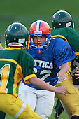 Attica Blue Devils modified football against the Alexander Trojans at Alexander Central School on September 14, 2010 in Alexander, New York.  (Copyright Mike Janes Photography)