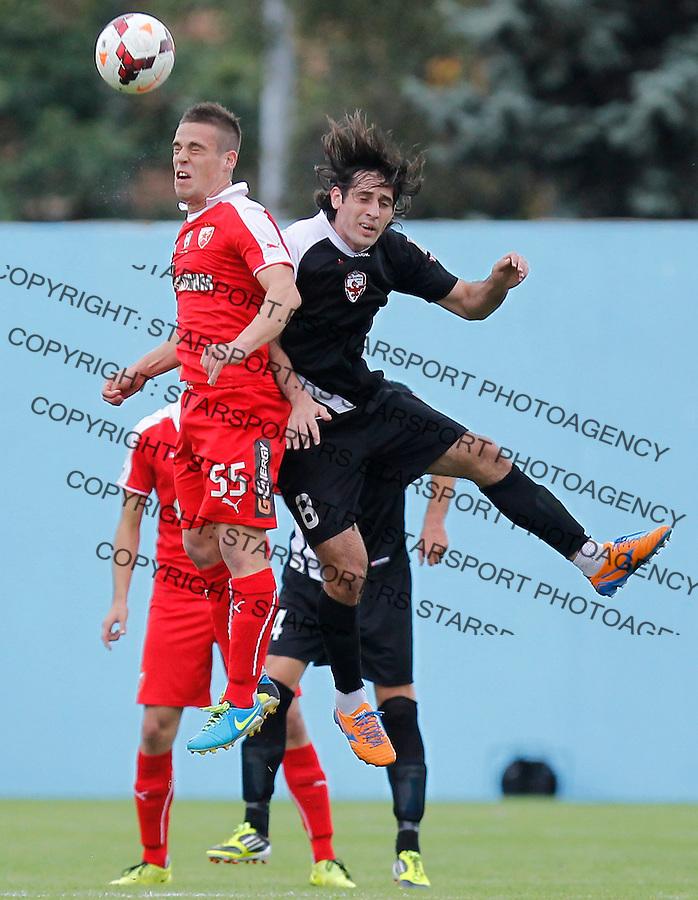 Fudbal Super liga season 2013-2014<br /> Vozdovac v Crvena Zvezda<br /> Aleksandar Kovacevic and Stefan Babovic (R)<br /> Beograd, 22.09.2013.<br /> foto: Srdjan Stevanovic/Starsportphoto &copy;