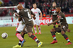 08.02.2019, RheinEnergieStadion, Koeln, GER, 2. FBL, 1.FC Koeln vs. FC St. Pauli,<br />  <br /> DFL regulations prohibit any use of photographs as image sequences and/or quasi-video<br /> <br /> im Bild / picture shows: <br /> die Hamburger kriegen Jhon Córdoba (FC Koeln #15),   nicht gehalten. <br /> <br /> Foto © nordphoto / Meuter