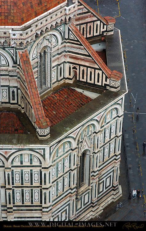 Right Transept Detail from Campanile Santa Maria del Fiore Florence