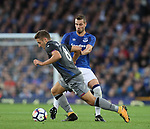 Morgan Schneiderlin of Everton tackles Nikola Vlasic of Hajduk Split during the Europa League Qualifying Play Offs 1st Leg match at Goodison Park Stadium, Liverpool. Picture date: August 17th 2017. Picture credit should read: David Klein/Sportimage