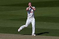 Frustration for Jamie Porter of Essex during Surrey CCC vs Essex CCC, Specsavers County Championship Division 1 Cricket at the Kia Oval on 11th April 2019
