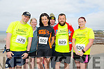 Stephen Dever, Margaret Mahony, Rachel Stokes, James Mahoney, Ryan O'Connor and Marie Deenihan at the Ballyheigue 10k run or half marathon on Saturday