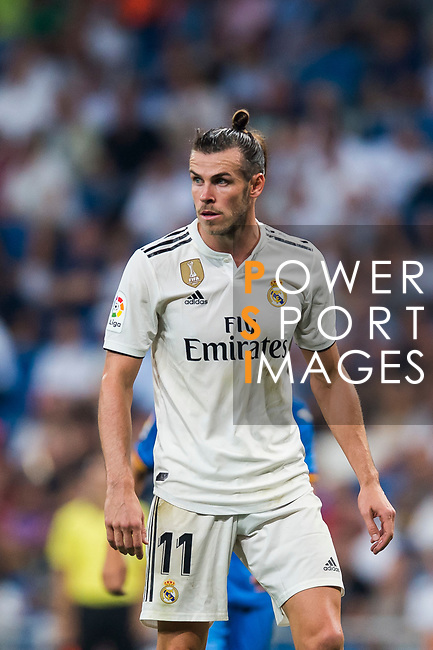 Gareth Bale of Real Madrid looks on during the La Liga 2018-19 match between Real Madrid and Getafe CF at Estadio Santiago Bernabeu on August 19 2018 in Madrid, Spain. Photo by Diego Souto / Power Sport Images