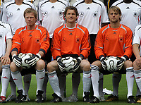 Unknown date: Jens Lehmann in team picture with other goalkeepers Oliver Kahn and Timo Hildebrand  ; Lehmann has been named to replace the outgoing Jurgen Klinsmann, as coach of Hertha Belin FC of the German Bundesliga team