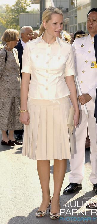 Crown Prince Haakon & Crown Princess Mette-Marit of Norway's visit to Thailand..Visit to Royal Chitralada Projects, Chitralada Villa..